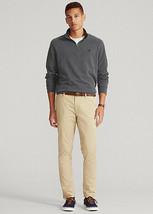 Polo Ralph Lauren Luxury Jersey Quarter-Zip Pullover Dark Grey Heather-Size 2XL - $59.99