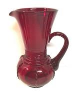 VINTAGE NEW MARTINSVILLE RADIANCE RUBY RED PITCHER 64 OZ. - $175.00