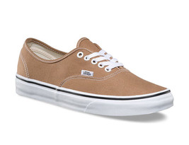 Vans Authentic Tiger's Eye True White Brown Men's Skate Shoes Size 7.5 - $47.95