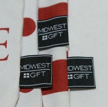 Midwest Gift CBK Three Piece Red White Canvas Zip Up Cosmetic Bag Set image 5