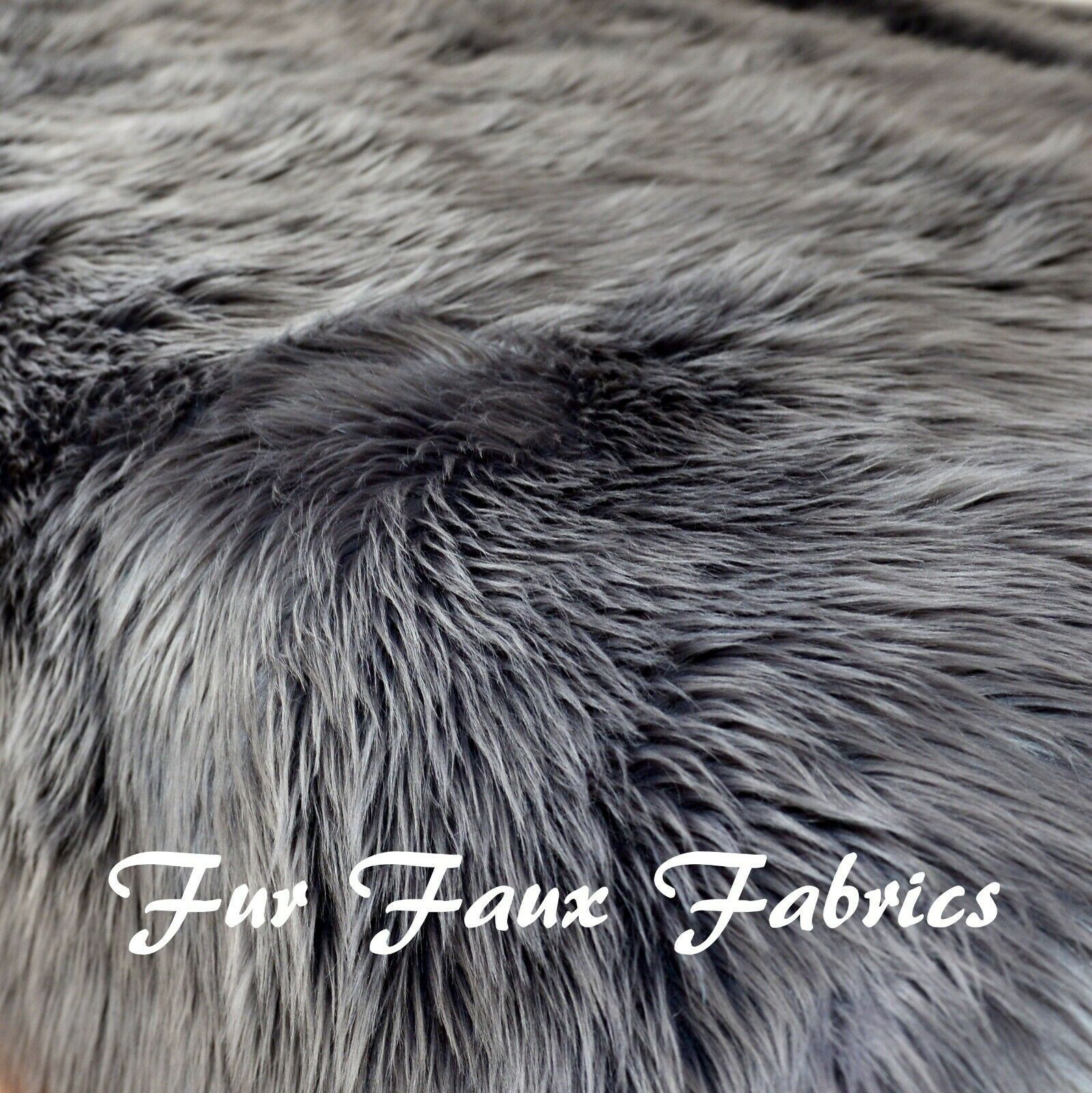 "Primary image for Gray Shaggy Faux Fur Fabrics By the Yard 60"" Width One Yard"