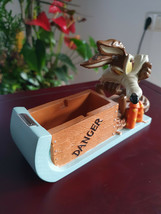 Extremely Rare! Looney Tunes Wile E Coyote TNT Tape Dispenser Figurine S... - $247.50