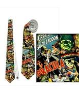 necktie tie monsters retro vampire dracula frankenstein bride wolf man m... - $22.00