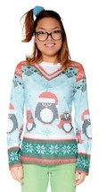 Ugly Christmas Sweater Womens Winter Penguin Adult Costume Party FR126718 - $47.99
