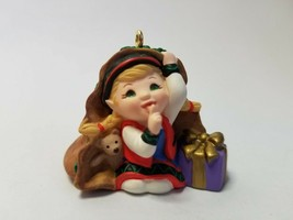 Hallmark Keepsake Ornament - Curious the Elf - 2001 Ornament Premiere - $5.30