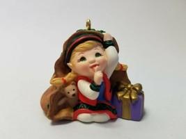 Hallmark Keepsake Ornament - Curious the Elf - 2001 Ornament Premiere - $5.30