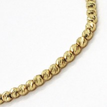 18K YELLOW GOLD BRACELET, 18 CM, FINELY WORKED SPHERES, 2.5 MM DIAMOND CUT BALLS image 1