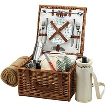 Picnic at Ascot Cheshire English-Style Willow Picnic Basket with Service... - €156,49 EUR