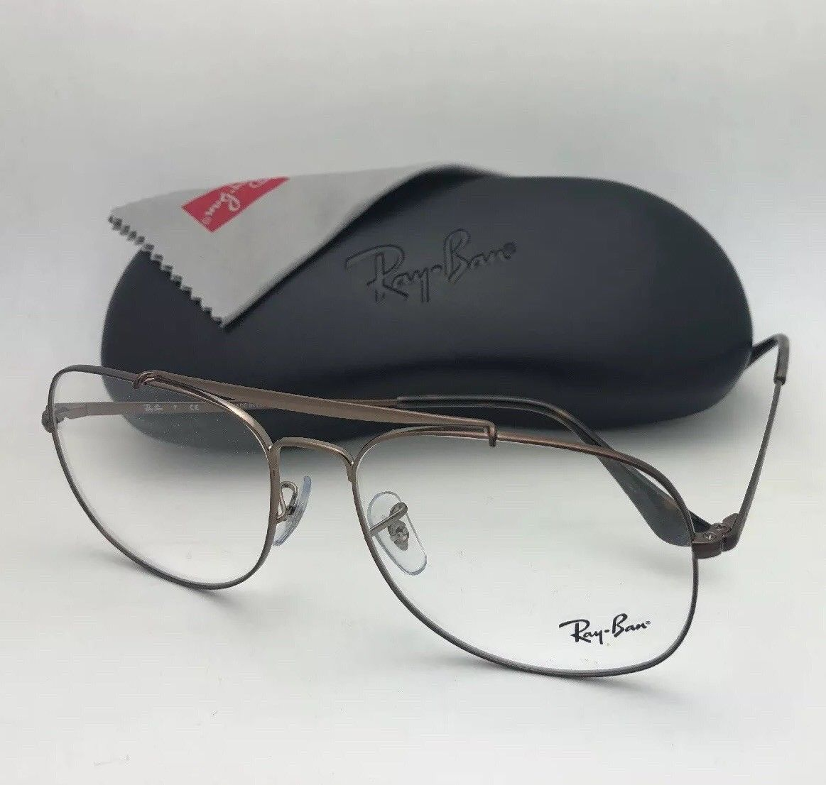 17301da9b0e New RAY-BAN Aviators Eyeglasses THE GENERAL RB 6389 2531 55-16 140 Brown  Frames -  169.99
