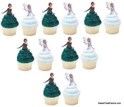 Frozen Elsa Anna CupCake Cake Decoration Party Supplies Birthday 24 PCS ... - $11.83
