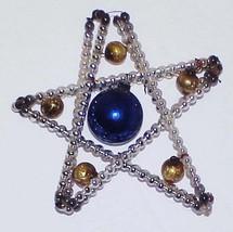 "Antique 4"" Star Christmas Ornament -  Mercury Glass Beads - $12.00"
