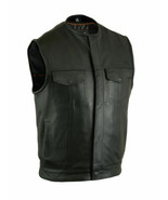 Concealed Snap Closure, Milled Cowhide Bike Motorcycle Vest by Daniel Sm... - $109.95+