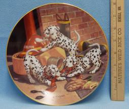 1993 Hamilton Collectors Plate Where's the Fire Dalmation Dog USA All Da... - $9.85
