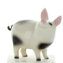 Hagen Renaker Farm Pig Black and White Papa Ceramic Figurine