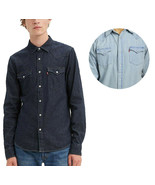 Levi's Mens Barstow Classic Western Denim Pearl Snap Button Casual Dress... - $39.99