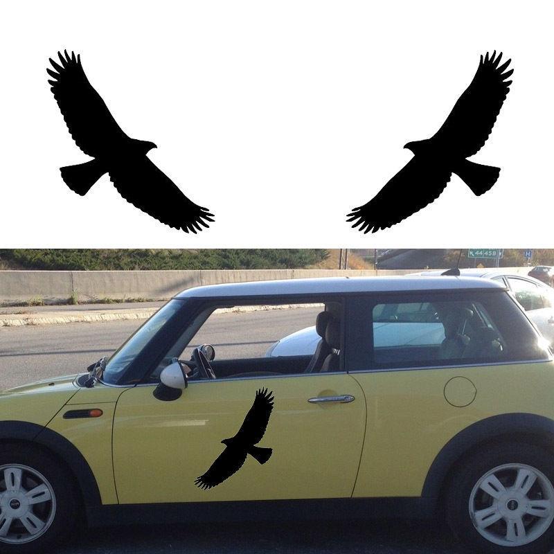2pcs set tribal eagle bird hawk car sticker truck door vinyl decal removable diy home decor