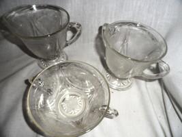Crystal Royal Lace Depression Glass Creamer Sugar Cream Soup MINT - $23.99