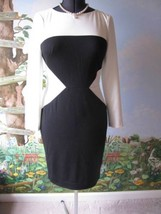 Ralph Lauren Black and White Long Sleeve Sheath Dress Size 8 New - $64.34