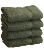 4-pc Forest Green Superior 900 GSM 2-Ply Egyptian Cotton Hand Towels - $42.95