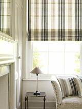 Country Curtains (1) Blue & Cream Striped Ticking Roman Shade Valance Sz... - $30.00