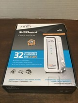 Arris Sur Fboard Docsis 3.0 Cable Modem - SB6190 White In Box With Cords - $29.70