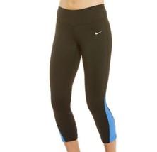 Nike Power Racer Contenitive Legging L Pantaloni Navy Blu Tight Altezza ... - €27,10 EUR