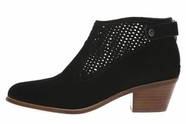 VIA SPIGA Chrissy Black Perforated Ankle Boots  38.5, 8  women New $275 - $73.79