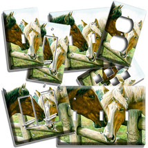 AMERICAN COUNTRY FARM LOVE HORSES KISSING LIGHT SWITCH OUTLET WALL PLATE... - $9.99+
