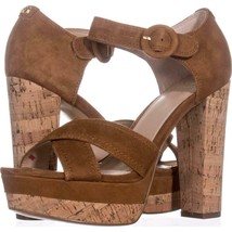 Guess Parris Platform Ankle Strap Sandals 708, Dark Natural, 7.5 US - £30.78 GBP