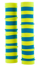 Arm Warmers Sleeves Spirit Sleeve Slip On Royal Blue Gold Stripes One Size New - $13.69