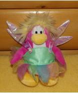 "Disney Club Penguin 7"" Plush Pink Rainbow Fairy Iridescent Wings Faery - $7.69"