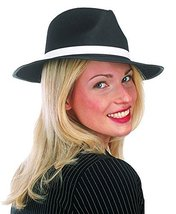 Jacobson Hat Company Large Black with White Band Costume Gangster Hat 7 ... - €14,09 EUR