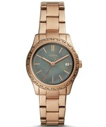 FOSSIL ADALYN THREE-HAND ROSE GOLD-TONE STAINLESS STEEL WATCH BQ3421 - $77.99