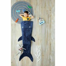 """Pillowfort -Shark Tail Wearable Blanket, Blue, Size 66"""" x 50"""" -store- NEW W/TAGS image 2"""