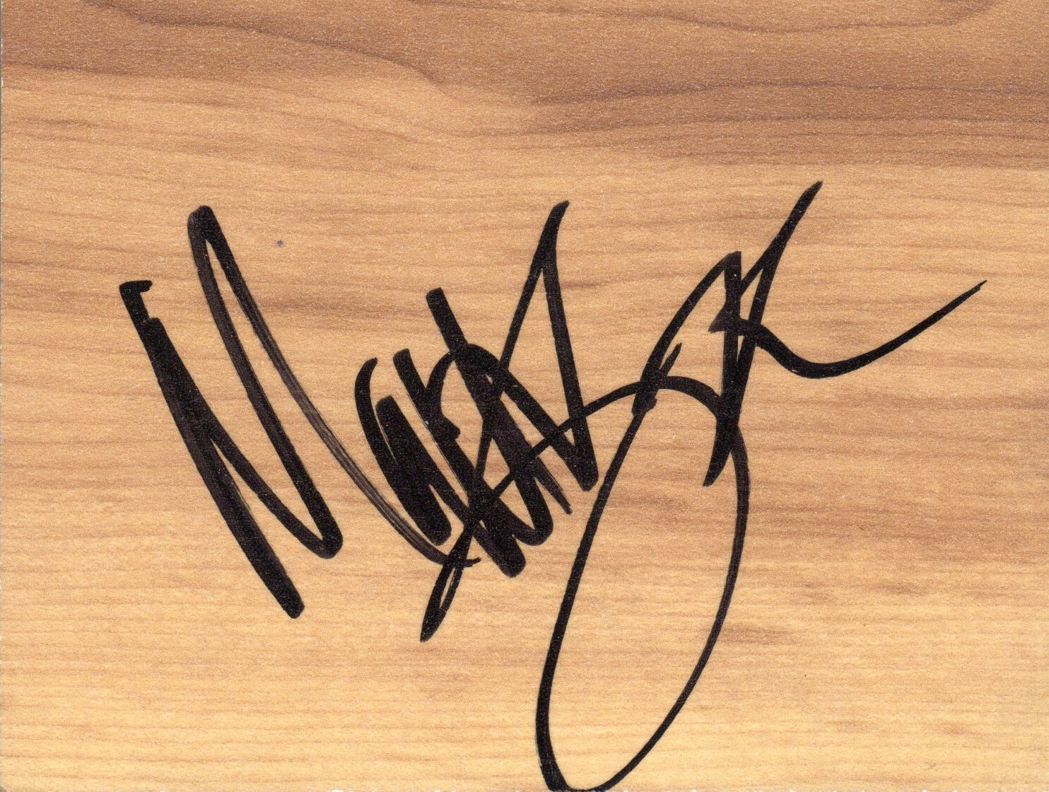 Matt Barnes Signed 5x4 Simulated Basketball Floor