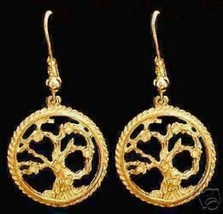 NICE 1542 New Gold Plated Celtic Tree of Life  Earrings - $701,46 MXN