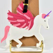 Flying Winged Unicorn Horned Pegasus Rubber Baggage Luggage Traveling Tag image 3