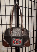 Vintage Country Road Leather Purse W/Studded General Lee Dukes Of Hazard... - $49.49