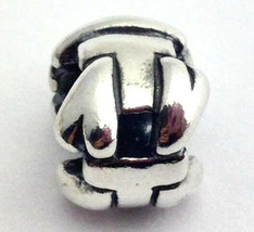 "Authentic Trollbeads Letter ""T"" Sterling Silver Charm 11144T, New - $22.44"