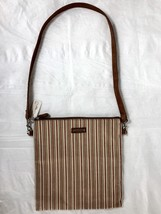 LONGABERGER HOMESTEAD Tan Green Red Striped Tote Shoulder Bag Purse New - $18.05