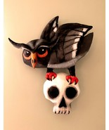 """Owl with Skull"" PDF Digital Folk Art E-Pattern By Susan Barmore - $12.00"