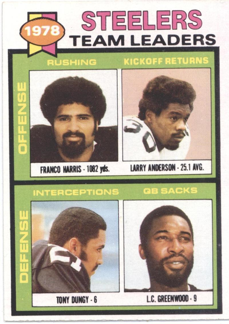 1979 Topps #19 Franco Harris/Larry Anderson/Tony Dungy/L.C. Greenwood Steelers T - $16.50