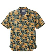 Tommy Bahama Cassis Print Camp Shirt in Yellow Custard Size L, $98 BNWT - $64.75