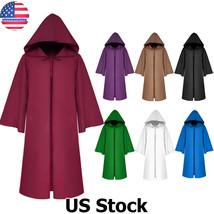 Halloween Adult Men Women Hooded Robe Long Cloak Cape Hood Fancy Dress Costume - $43.80
