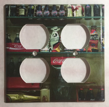 Coke Coca-Cola Mini Old Light Switch Outlet wall Cover Plate Home Decor image 5