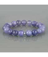 Tanzanite Bracelet. Smooth Round 9 MM Tanzanite Gemstone Beads Stretch B... - $58.99