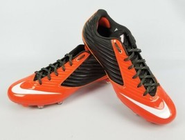 NIKE Vapor Speed Low TD Football Brown Orange Cleats 668854-208 Size 12 Mens  - $53.20
