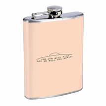 Sun Rise Try Again Em1 Flask 8oz Stainless Steel Hip Drinking Whiskey - $279,96 MXN