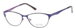 NWOT Guess GU 2504 53079 53mm Matte Lilac Prescription Eyeglass Frames - $39.99