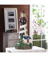 Solar Powered Lighthouse Coastal Nautical Decor - $45.95